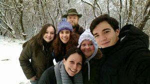 Con la familia de Boroka